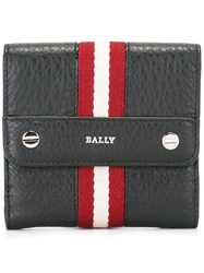 Bally Striped Coin Purse Black