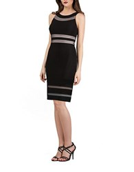 Js Collections Striped Sheath Dress Black