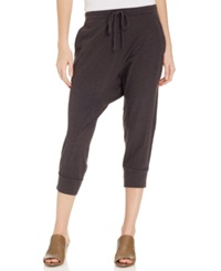 Eileen Fisher Cropped Drawstring Harem Pants Graphite