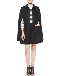 Red Valentino Wool Blend Button Front Cape