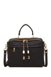 Urban Expressions Dezi Top Handle Leather Satchel Black