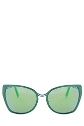 Cutler And Gross Jade Mirror Sunglasses Green