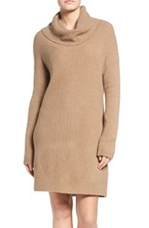 Bb Dakota Women's 'Collins' Ribbed Sweater Dress Camel