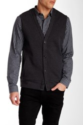 Perry Ellis Quilted Knit Vest Gray
