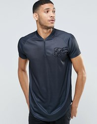 Sik Silk Siksilk Baseball T Shirt Black