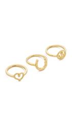 Giles And Brother Set Of 3 Charm Rings