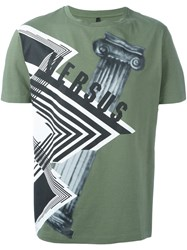 Versus Architecture Print T Shirt Green