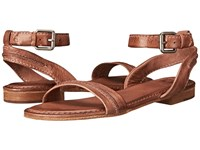 Frye Phillip Seam Ankle Dusty Rose Soft Vintage Leather Women's Sandals Brown