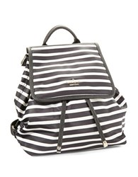 Kate Spade Molly Striped Backpack Black Cream