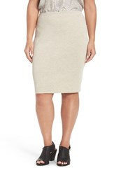 Eileen Fisher Plus Size Women's Washable Wool Crepe Skirt Sea Salt