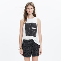 Madewell Drapey Pull On Shorts In Dot
