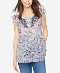 A Pea In The Pod Maternity Printed Blouse Marble Print