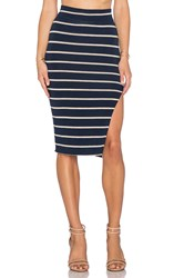 Lna Double Layer Pencil Skirt Navy