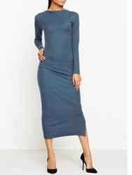 By Malene Birger Kisentan Draped Maxi Dress Teal