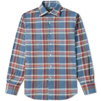 Freemans Sporting Club Hopkins Flannel Shirt Blue