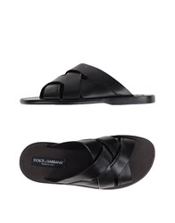 Dolce And Gabbana Footwear Sandals Men Black