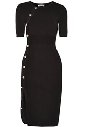 Altuzarra Kimiko Stretch Knit Sweater Dress Black