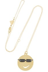 Alison Lou Joe Cool 14 Karat Gold Diamond Necklace