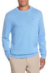 Men's Vineyard Vines 'Whale' Classic Fit Cotton Crewneck Sweater Hydrangea