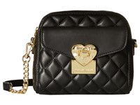 Love Moschino Square Quilted Crossbody Black Cross Body Handbags