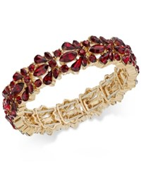 Charter Club Crystal Stone Stretch Bracelet Only At Macy's Red
