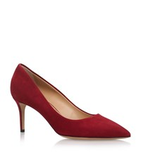 Salvatore Ferragamo Fiore Suede Courts 70 Female Wine