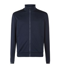 Hugo Boss Green Skaz Full Zip Logo Sweater Male Navy
