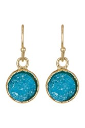 14Th And Union Druzy Stone Circle Drop Earrings Green