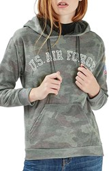 Topshop Women's By Tee And Cake Air Force Hoodie
