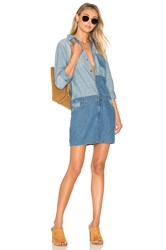 Current Elliott The Whitney Shirt Dress Ashore