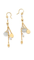 Chan Luu Charm Drop Earrings Blue Lace Agate Mix