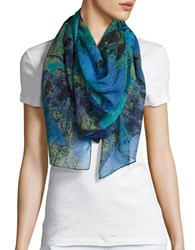 Collection 18 Butterfly Print Scarf Blue