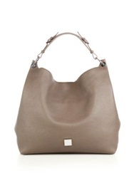 Mulberry Freya Leather Hobo Bag Taupe