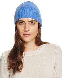 Bloomingdale's C By Waffle Knit Cashmere Hat River