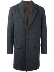 A.P.C. Single Breasted Coat Grey