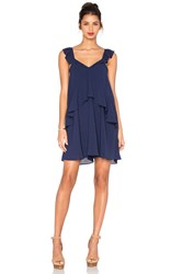 J.O.A. Ruffle Tank Dress Navy
