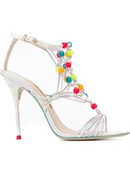 Sophia Webster Woven Beaded Sandals Multicolour
