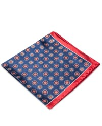 Club Room Medallion Pocket Square Only At Macy's Navy