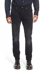 Men's 7 For All Mankind 'Paxtyn' Skinny Fit Jeans Destroyed Black