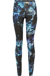 Just Cavalli Printed Stretch Jersey Leggings Blue