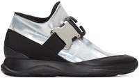 Christopher Kane Silver And Black Spoiler High Top Sneakers
