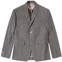Thom Browne Nep Flannel Blazer Grey