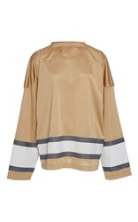 Band Of Outsiders Vermont Stripe Ice Hockey Top Tan