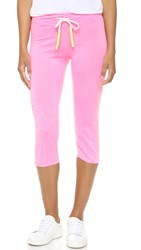 Sundry Light Terry Capri Sweatpants Pop Pink