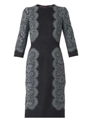 Dolce And Gabbana Lace Trim Flannel Dress