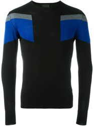 Les Hommes Stripe Detail Jumper Multicolour