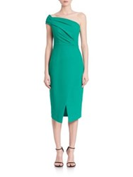 Black Halo One Shoulder Sheath Dress Green Cove