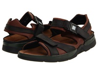 Mephisto Shark Dark Brown Black Waxy Leather Men's Sandals