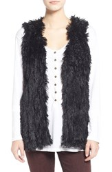 Junior Women's Jolt Faux Fur Vest Bk Black