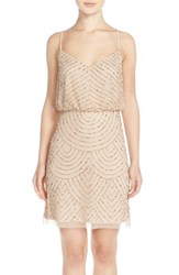 Women's Adrianna Papell Sequin Mesh Blouson Dress Champagne Gold